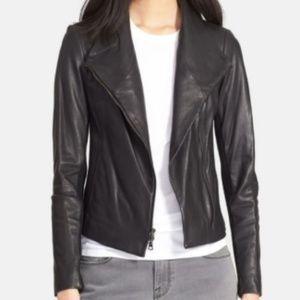 Vince Leather Scuba Jacket